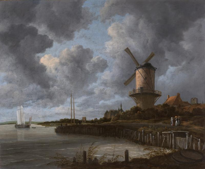 The_Windmill_at_Wijk_bij_Duurstede_1670_Ruisdael